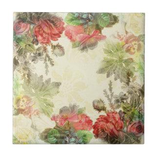 Elegant Vintage Floral Tile