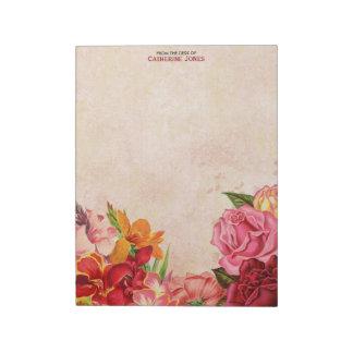 Elegant Vintage Floral | Vintage Paper | Colorful Notepad