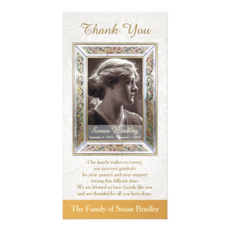 Elegant Vintage Frame Sympathy Thank You Card
