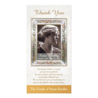 Elegant Vintage Frame Sympathy Thank You Custom Photo Card