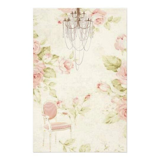 Elegant Vintage French Pink Floral Chandelier Customised
