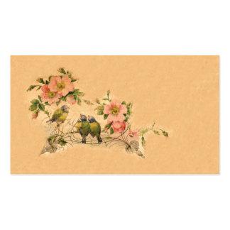 Elegant, Vintage Friends- Floral & Birds Double-Sided Standard Business Cards (Pack Of 100)