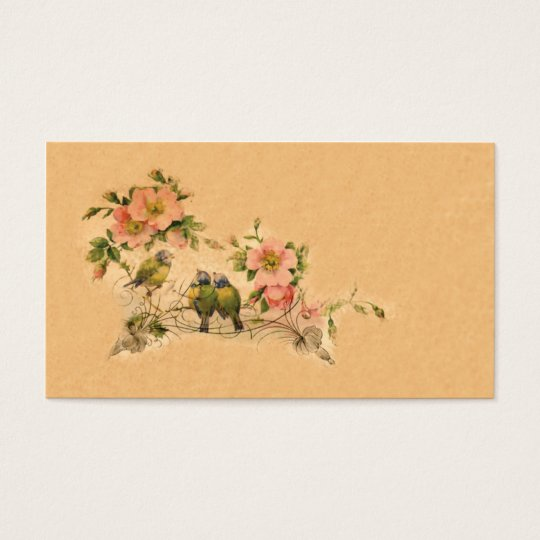 Elegant, Vintage Friends- Floral & Birds Business Card