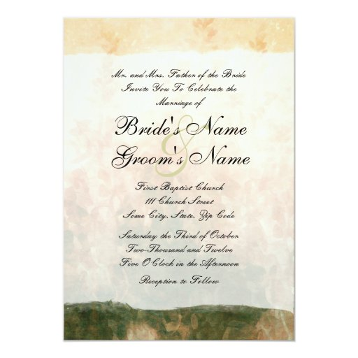 Elegant Vintage Garden Wedding Invitation