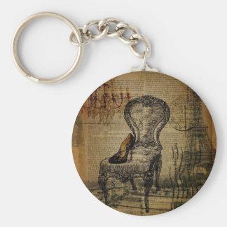 elegant vintage girly paris fashion key chain