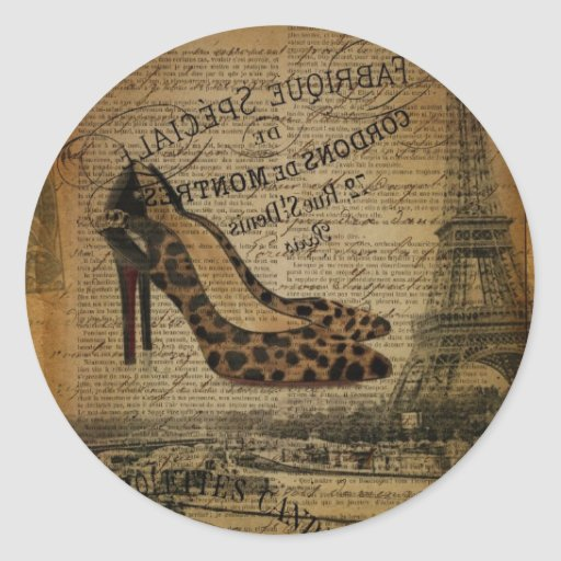 elegant vintage girly paris fashion sticker