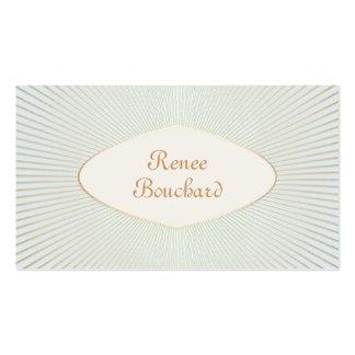 Elegant Vintage Gold Sunburst Light Sage Blue Chic Pack Of Standard Business Cards
