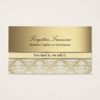 Elegant Vintage Golden Damask Pattern Business Card
