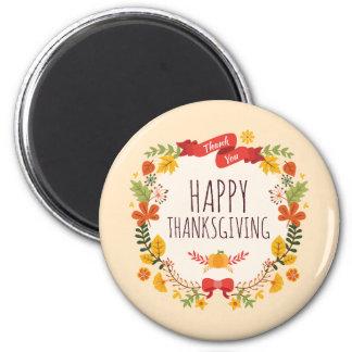Elegant Vintage Happy Thanksgiving | Magnet