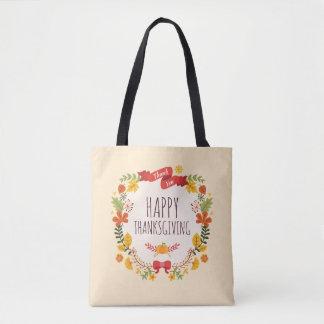 Elegant Vintage Happy Thanksgiving | Tote Bag
