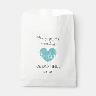 Elegant vintage heart paper wedding favor bags
