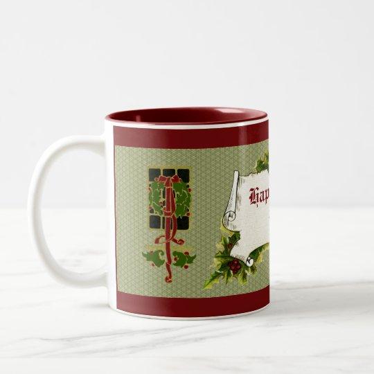 Elegant Vintage Holiday Mug