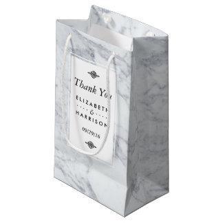 Elegant Vintage Marble Wedding Favor Small Gift Bag