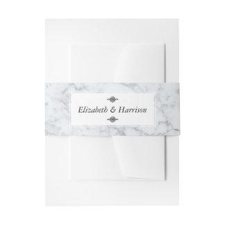 Elegant Vintage Marble Wedding Invitation Belly Band