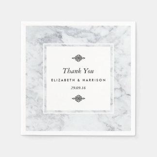 Elegant Vintage Marble Wedding Paper Napkin