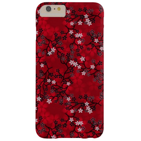 Elegant Vintage Oriental Red Floral Pattern Barely There iPhone 6 Plus Case