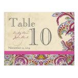 Elegant Vintage Paisley Wedding Table Number