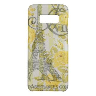 Elegant vintage paris eiffel tower yellow floral Case-Mate samsung galaxy s8 case