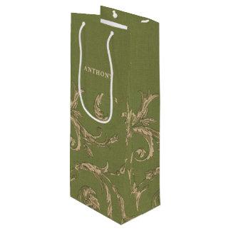 Elegant Vintage Pattern Wedding Favor Wine Bags