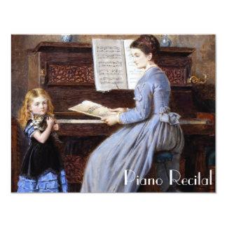 Elegant Vintage Piano Recital Invitations