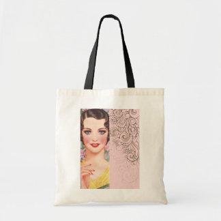 elegant vintage pink fashion paris girl bag