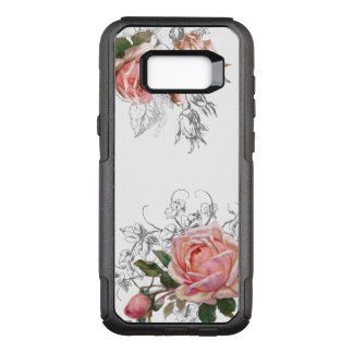 Elegant Vintage Pink Roses OtterBox Commuter Samsung Galaxy S8+ Case