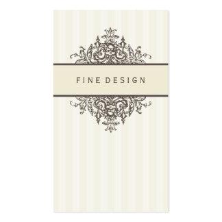 ELEGANT VINTAGE pretty beautiful renaissance ivory Pack Of Standard Business Cards