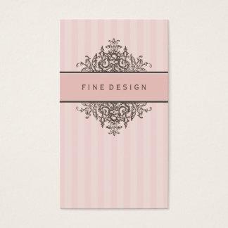 ELEGANT VINTAGE pretty beautiful renaissance pink Business Card