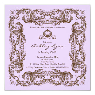 Elegant Vintage Princess Birthday Party Invitation