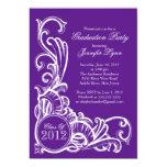 Elegant Vintage Purple Graduation Party Invitation 13 Cm X 18 Cm Invitation Card