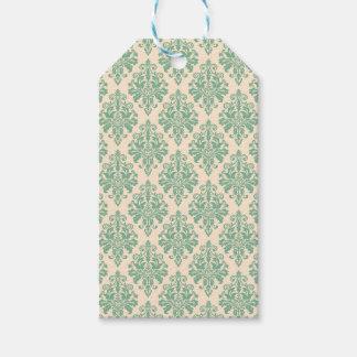 Elegant Vintage Retro Damask Pattern Gift Tags