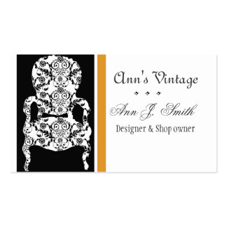 Elegant Vintage Retro Modern Antique Vintage Chair Business Cards