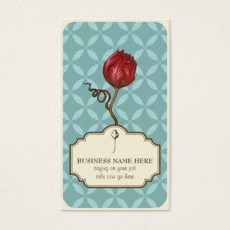 Elegant vintage rose customizable business card
