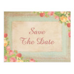 Elegant Vintage Roses 90th Save The Date