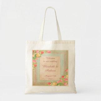 Elegant Vintage Roses Welcome Tote Bag