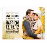 Elegant Vintage Save The Date Wedding Postcard