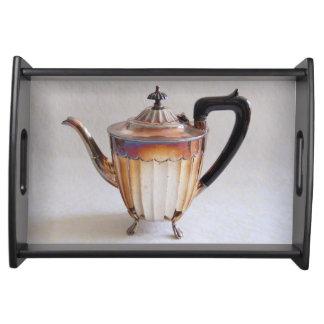 Elegant Vintage Silver Teapot Afternoon Tea Tray