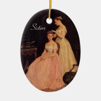 Elegant Vintage Sisters Ornament