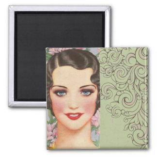elegant vintage spring fashion paris girl magnets