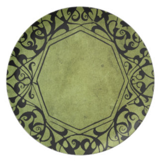 Elegant Vintage Victorian Style Design Plate