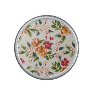 Elegant Vintage Watercolor Flowers Pattern Bluetooth Speaker