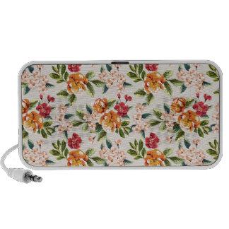 Elegant Vintage Watercolor Flowers Pattern iPod Speakers