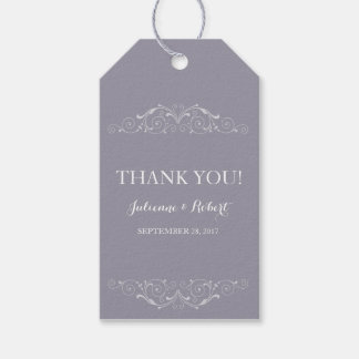 Elegant Vintage Wedding Thank You Favor Tag