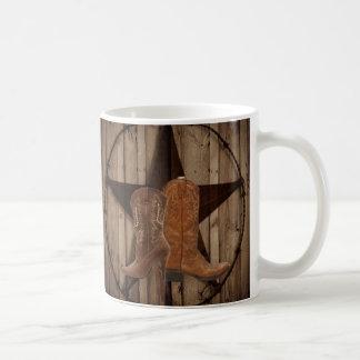 elegant vintage western country fashion basic white mug