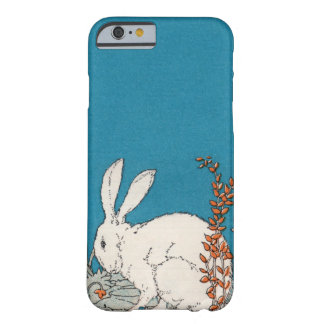 Elegant Vintage White Rabbit Flowers Barely There iPhone 6 Case