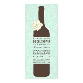 Elegant Vintage Wine Bridal Shower Invitations
