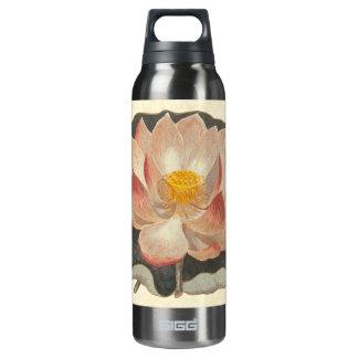 Elegant Vintage Yoga Lotus Blossom Peach Damask