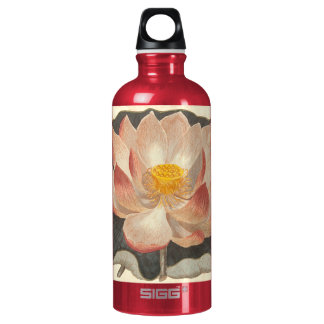 Elegant Vintage Yoga Lotus Blossom Peach Damask SIGG Traveller 0.6L Water Bottle