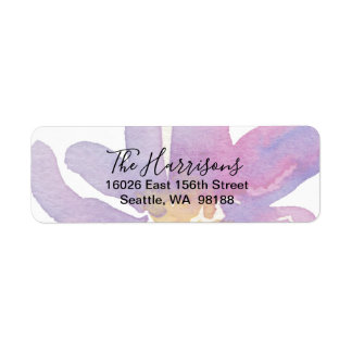 Elegant Violet Lavender Watercolor Floral