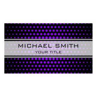Elegant Violet Polka Dot Pattern Pack Of Standard Business Cards